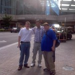 Mike H., Simon and I playing in traffic in downtown Indy.