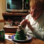 Nana decorating the tree